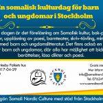 En somalisk kulturdag för barn och ungdomar i Stockholm
